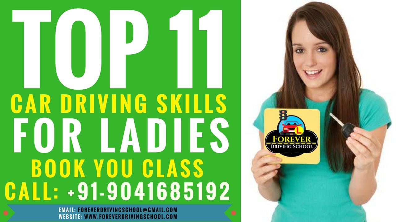 Top 11 Car Driving skills for Ladies